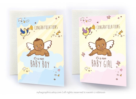Items similar to african american baby new baby card items similar to african american baby new baby card congratulations baby girl baby boy announcement card baby shower card asian baby black baby on m4hsunfo