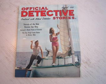 Official Detective Stories August 1958 - high grade