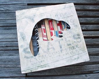 "12x12"" Beaver Reclaimed Hockey Stick Shadow Box"
