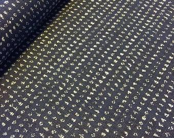 "Sevenberry rustic tiny dot ""kasuri"" style navy indigo blue Japanese cotton fabric"