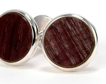 Wine Barrel Cufflinks Silver Cufflinks Wooden Cuff Links Wedding Cufflinks Gift For Him Rustic Wedding Gift For Groomsmen Gift For Father