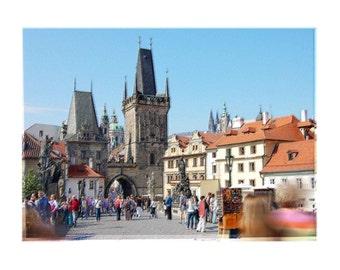 Old Charles Bridge Prague, Czech Republic Original Art Print