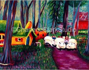 Enchanted Forest - Cinderella's Pumpkin Carriage and Mice