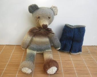 Plush Toy bear Albert handknitted