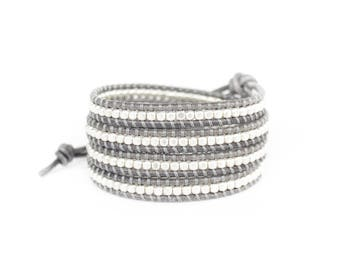 Silver Mist 4 Wrap Bracelet