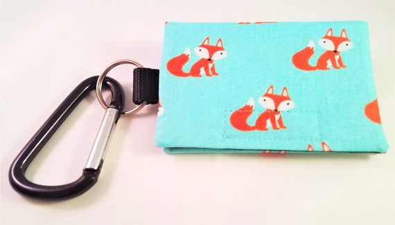Bag Buddy - Poo Bag Holder / Dog Poop Bag Carrier / Pet Waste / Leash Purse / Leash Pouch / Poo Bag / Pet Mess / Poo Bag Holder / Fox