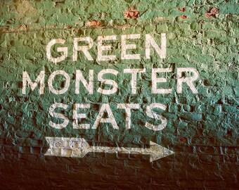 Green Monster Seats - Fenway Park - Boston Red Sox - Boston Art - Baseball Decor - Red Sox - Fine Art Photography