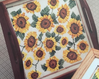 SPECIAL SUNFLOWERS Sudberry House #59 Design Leaflet Donna Vermillion Giampa 1994 Vintage Counted Cross Stitch Chart Pattern Booklet