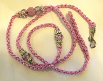 Braided Beaded  3mm (thin) Paracord Dog Show Leads