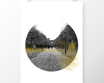 Art Print Dublin IMMA in Autumn