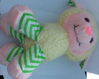 Vintage Strawberry Shortcake Very Rare Melanie Bell (Peach Blush's Pet) Stuffed Animal  1980s