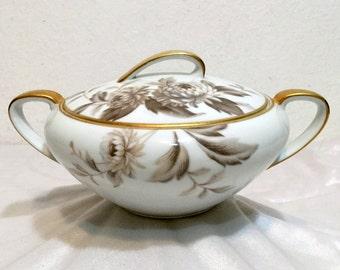 Noritake LASALLE Sugar Bowl with Lid Vintage 60'S Fine China Japan