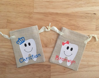 Personalized Tooth Fairy Pouches