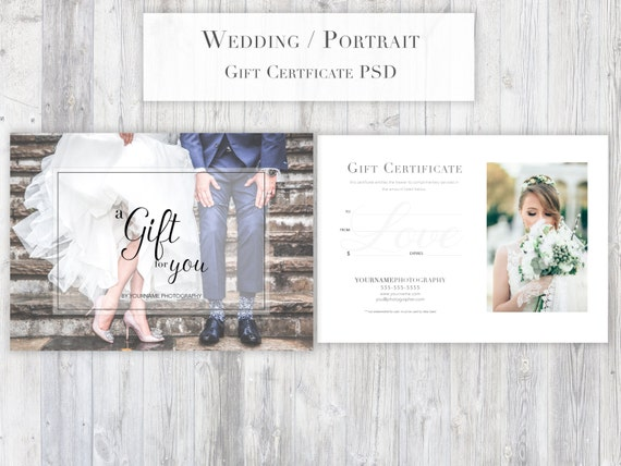 Photography gift certificate template psd for photoshop portrait photography gift certificate template psd for photoshop portraitweddingglamour all purpose gift certificate elegant modern from glamarketingdesigns on yelopaper Images