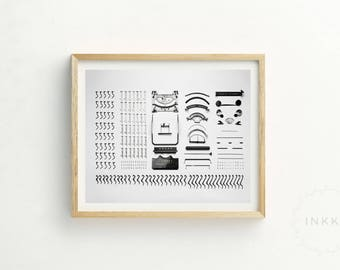 Typewriter Print |  Typewriter Printable Art |  Sale Art | Scadi Art | scandi picture | typewriter | still life photography | office art