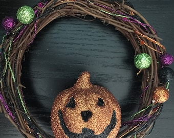 3 mini Halloween wreaths
