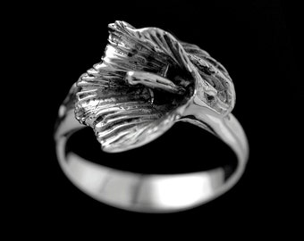 CALLA LILY RING, Flower Jewelry, Silver flower, Lily Ring, #callalilyring