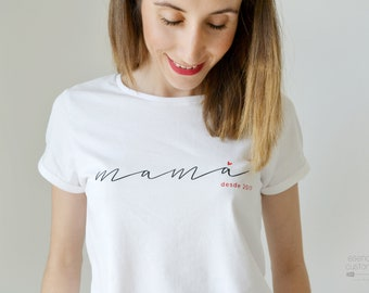 MOM custom T-shirt, short sleeve t-shirt for mother, custome mother tee, mom gift, matching outfit