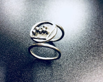 Double Silver Statement Ring