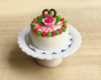 Miniature Christmas Cake,Miniature Cakes ,Dollhouse Bakery,Christmas Cakes,Christmas Accessories,Handmade Cakes,clay,handmade cake