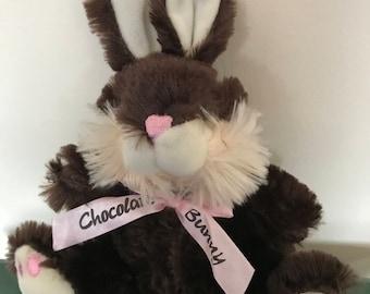 "DAN DEE Collectors Chocolate Scented Plush Stuffed Bunny* 10"""
