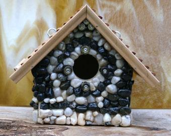 Stone Birdhouses, Unique Hanging Outdoor Birdhouse, Birdhouse Nesting Box, Gun Lovers Birdhouse