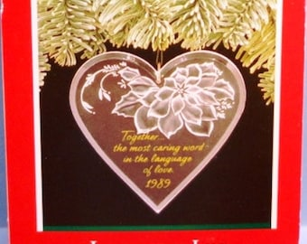 1989 Language of Love Hallmark Ornament
