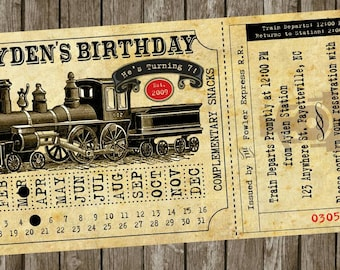 Train Ticket Printable Invitations