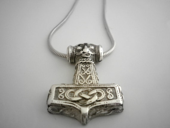 Sterling silver thor hammer pendant mozeypictures Gallery