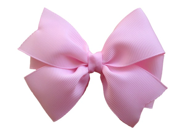 Attractive Light pink hair bow hair bow hair bows hair bows for QI65