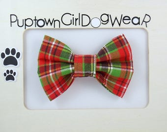 Cat Bow Tie Dog bow tie Plaid Christmas Bow Tie Dog Bow Tie Cat Bow Tie Pet Bow Tie Bow Ties for Dogs