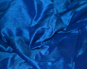 Silk Dupioni in Peacock Blue, Fat Quarter, D - 325