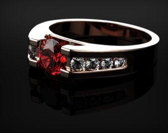 Rose Gold Ruby Ring Ruby Engagement Ring Rose Gold Engagement Ring Ruby in Rose Gold Rose Gold Ruby Ring July Birthstone Rose Gold Ring