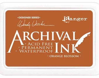 Ink Pad Archival Ink Scrapbooking Paper Crafts Ink Stamping Pad Orange Blossom Wendy Vecchi Designer Series CLEARANCE was 6.99