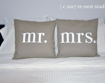 the wedding couple hand painted throw pillow set - engagement/wedding/bridal shower/anniversary/housewarming gift