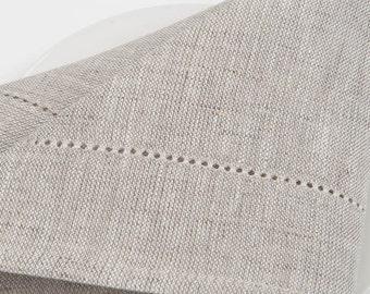 100 % LINEN NAPKINS SET Of 6  Rustic linen napkins Light grey Yellowish grey Off-white  Wedding napkins  Medium-weigh linen napkins