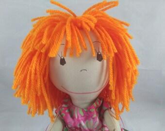 Handmade Soft Doll, Shower or Girls Birthday gift, Rag doll, Wedding Dolls, Custom Doll, Personalized Rag Dolls, Plush Doll, Stuffed Doll