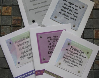 friend quotes greeting card set handcrafted