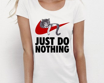 "T-shirt ""JUST DO NOTHING"" - cat"