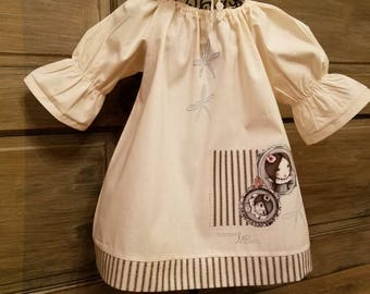 Girls unique dresse, toddlers peasant dress, girls dresses, special-occasion dresses