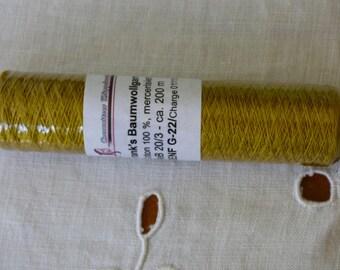 Frank's 20 cotton yarn / 3 collar Senf 22 G