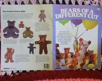 Bears of a Different Cut 1984 Pattern for 10 Loveable Bear Dolld