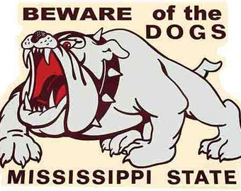 Vintage Style   Mississippi State University Go Bulldogs Souvenir Travel Decal sticker college