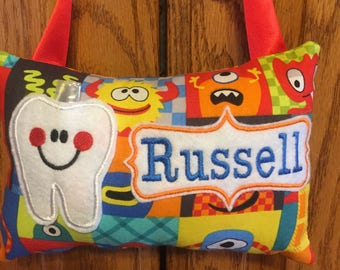 Monster Personalized Tooth Fairy Pillow