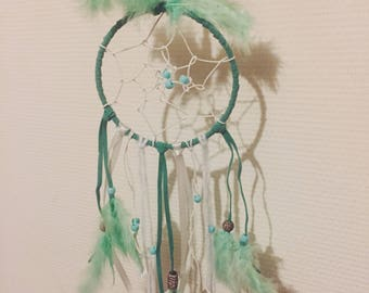 Mint and white dream catcher