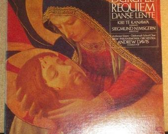Durufle Requiem Danse Lente Kiri Te Kanawa Andrew Davis Vinyl Quad Classical Record Album