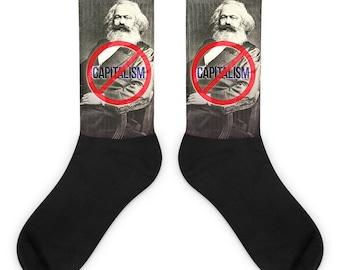Marx Anti-Capitalism Socks