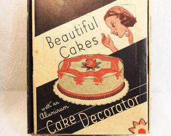 Vintage, Beautiful Cakes, Cake Decorator, Box, Frosting Tips, Recipes, Instructions, Cake Decorating Set