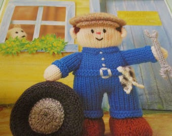 Handmade Knitted Harold, The Handyman Part Of The Little Dumpling Dolls Village People (New, Made To Order) 3+