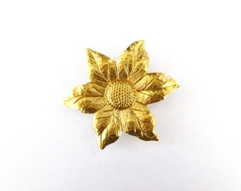 Bridesmaid Hair Clip Sunflower Barrette Gold Sun Flower Floral Garden Botanical Nature Boho Woodland Wedding Accessories Womens Gift For Her